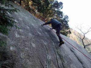 テスト岩で練習
